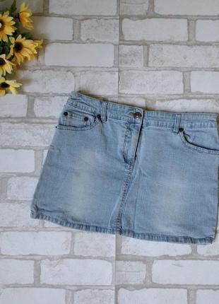 Юбка джинсовая мини голубая dure