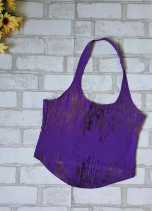 Топ женский фиолетовый с открытой спиной