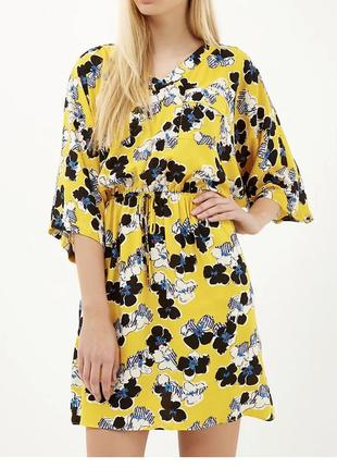 Вискозное платье рубашка кимоно