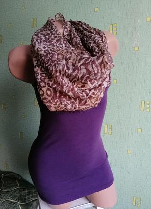 Шолковый тигровый платок. шарф