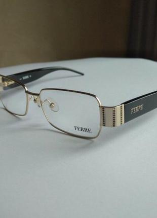 Фирменная оправа под линзы,очки с черными камнями swarovski оригинал g.ferre
