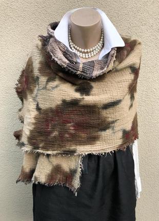 Шерсть,большой,двухсторонний шарф,палантин,люкс бренд,erfurt.