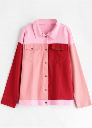 Оверсайз рубашка пиджак жакет куртка под джинс цветная