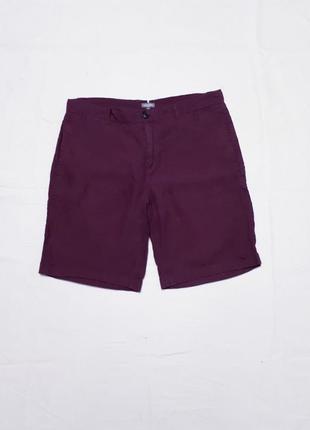 Льняные шорты р 48-50  м бордового цвета