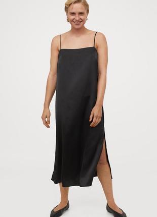 Сатинова сукня h&m satin slip dress