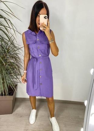 Женское платье-рубашка без рукавов – идеальный вариант для летней жары