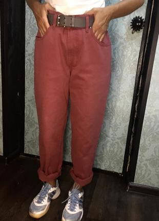 Момы мом mom's  розовые базовые джинсы