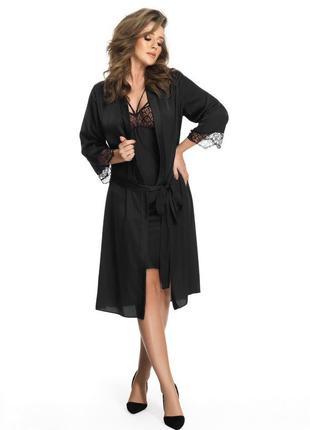 Шелковый халат memphis от польского бренда gorsenia в больших и маленьких размерах