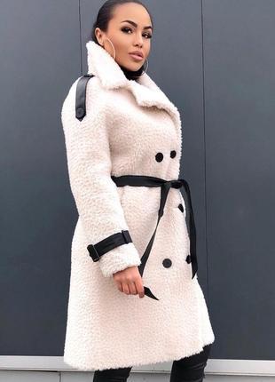 Акция!!! роскошное пальто из овчины2 фото