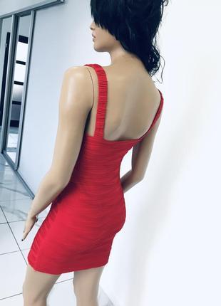 Сексуальное красное алое платье с декольте - новое без бирки jane norman размер xc/c5 фото