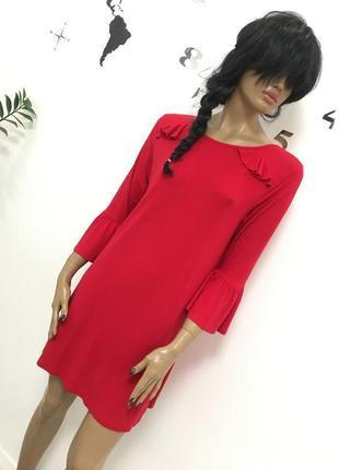 Стильное трендовое красное платье свободного кроя от papaya