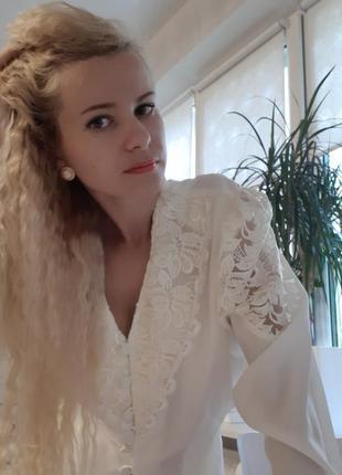 Блузка винтаж 80-е2 фото