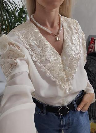 Блузка винтаж 80-е10 фото