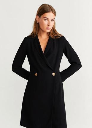 Черное платье mango p.l