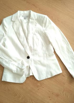 Пиджак от h&m лен 52% котон 48 см