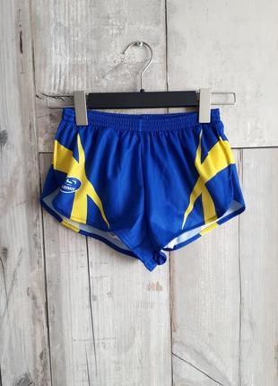 Короткие спортивные шорты франция р s синий желтый
