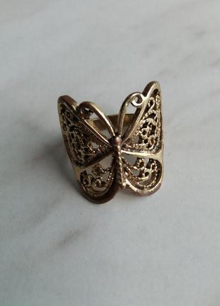 "Кольцо ""бабочка"", р. 18-191 фото"