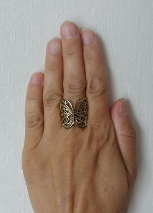 "Кольцо ""бабочка"", р. 18-193 фото"