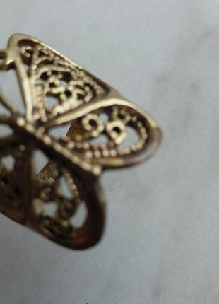 "Кольцо ""бабочка"", р. 18-194 фото"