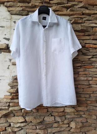 💯% льняная рубашка большого размера