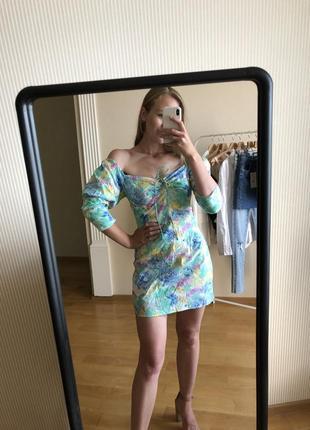 Платье zara цветочек