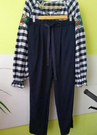 Брюки штаны джогеры джоггеры с лентами от mango