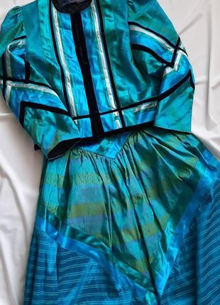 Винтажный шелковый костюм.юбка,жилет.австрия.