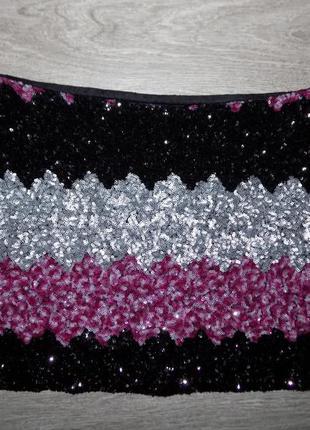 Актуальная, нарядная  юбка в паетках4