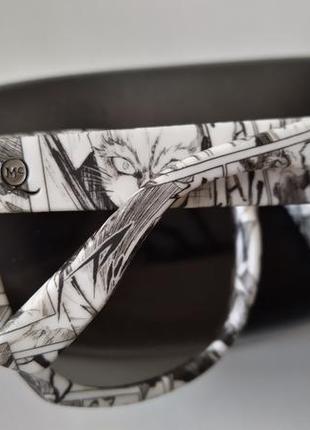 Новые солнцезащитные очки alexander mcqueen чёрно-белые принт манга3 фото