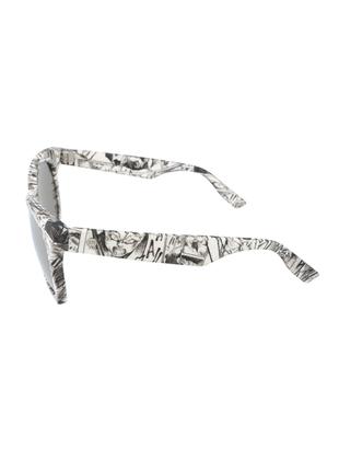 Новые солнцезащитные очки alexander mcqueen чёрно-белые принт манга4 фото