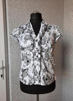 Оригинальная женская блуза, лето, 100%cotton. f&f.