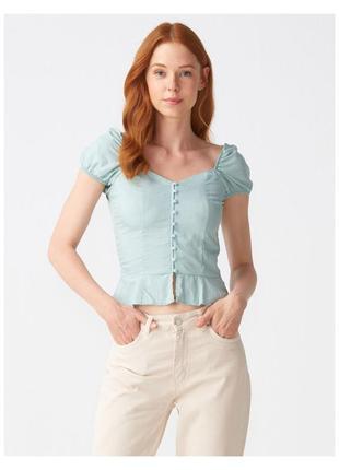 Мятна блуза, мятная блузка dilvin