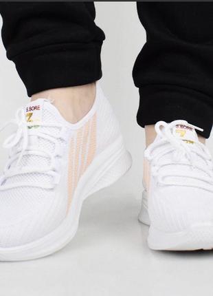 Распродажа! белоснежные лёгкие женские кроссовки / 36-41р