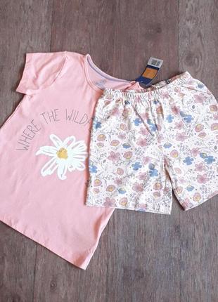 Летний хлопковый костюм для девочки 🌞 футболка шорты lupilu германия