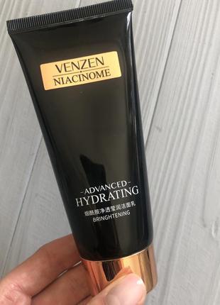Пінка для вмивання venzen niacinamide advanced hydrating 100 грам