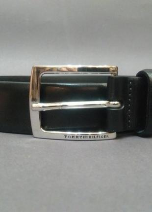 Кожаный ремень пояс tommy hilfiger оригинал made in italy