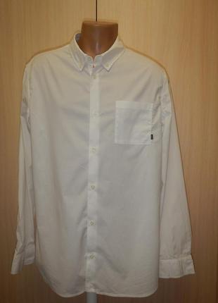 Белая рубашка nike p.xl хлопок