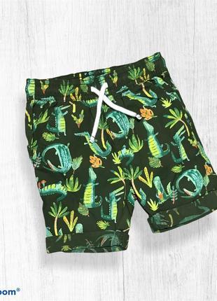 Tu шорты легкие летние на мальчика крокодилы 2-3 года