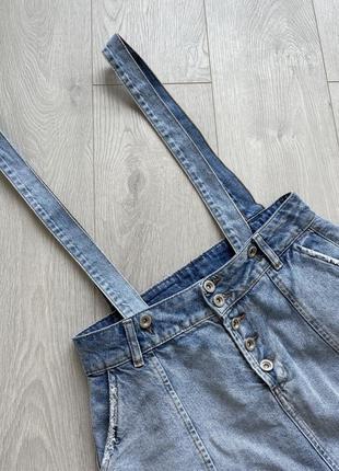 Джинсовый комбинезон юбка на подтяжках