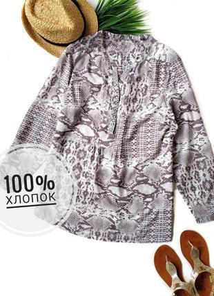 Стильная удлиненная блуза из хлопка marks&spencer.