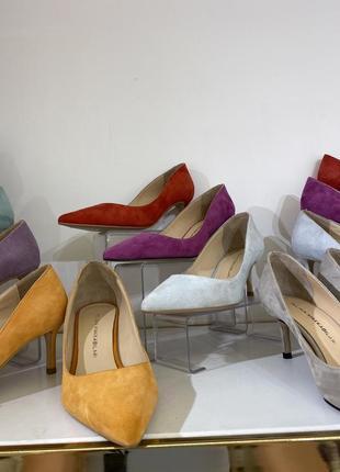 Туфли лодочки из натуральной замши и кожи в разных цветах 🌸4 фото