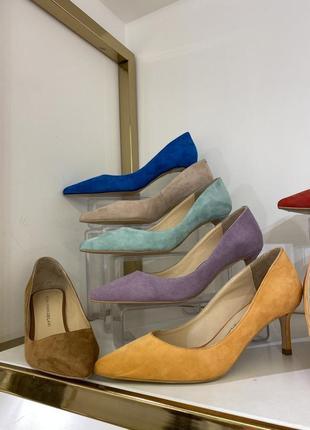 Туфли лодочки из натуральной замши и кожи в разных цветах 🌸1 фото