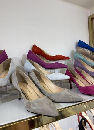 Туфли лодочки из натуральной замши и кожи в разных цветах 🌸2 фото