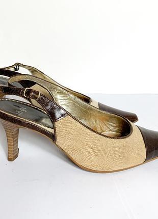 Туфли hōgl бежевые кожа. оригинал