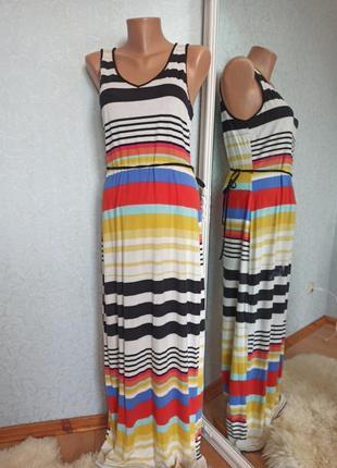 Платье сарафан в пол длинное