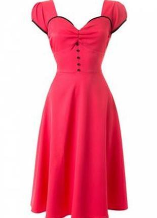Lindy bop рожева сукня у вінтажному стилі 1950-х років pin up girl