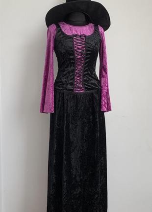 Ведьма средневековая колдунья 44-46 костюм