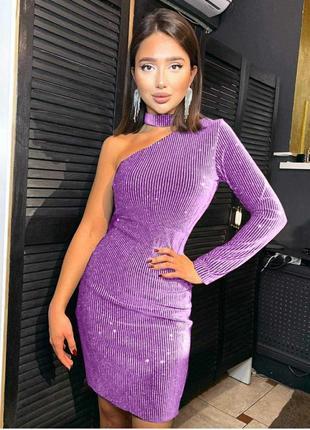 Женское нарядное платье люрекс