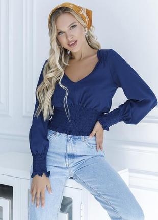Укороченная блуза с жаткой