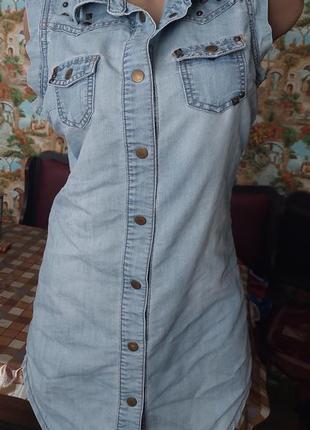 Фирменное джинсовое платице